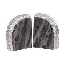 Dimond 8989-025/S2 - Glace Bookends In Silver