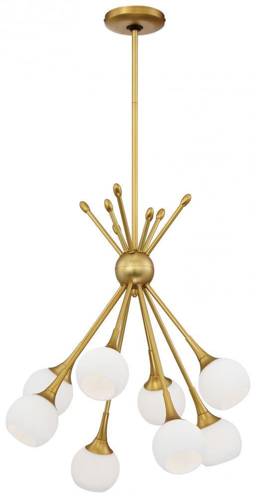 8 light chandelier p1807 248 dekker lighting 8 light chandelier mozeypictures Choice Image