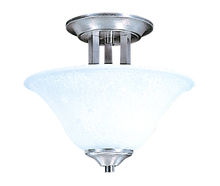 Framburg 9301 BS/PN - 2-Light Brushed Stainless Bellevue Flush / Semi-Flush Mount