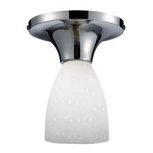ELK Lighting 10152/1PC-WH - Celina 1 Light Semi Flush In Polished Chrome And