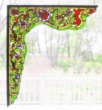 "Meyda Tiffany 65221 - 22""W X 23.5""H Serpent Left Corner Bracket Window"