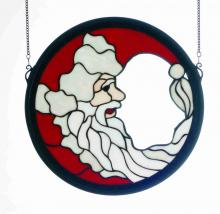 "Meyda Tiffany 65263 - 15"" Round Crescent Santa Window"