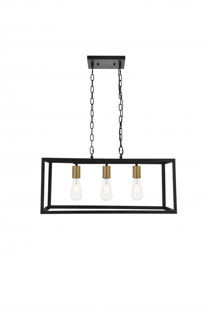 Resolute 3 Light Br And Black Pendant Ld40625brb